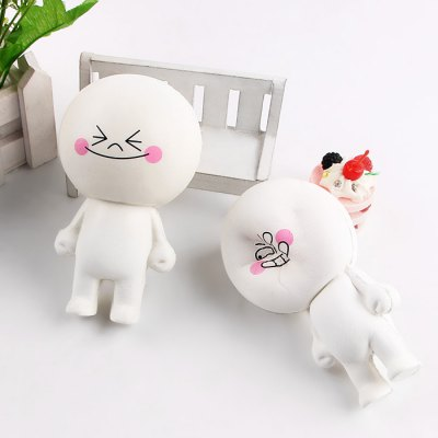 Steamed Bun Doll Soft PU Foam Squishy ToySquishy toys<br>Steamed Bun Doll Soft PU Foam Squishy Toy<br><br>Color: White<br>Materials: PU<br>Package Content: 1 x Squishy Toy<br>Package Dimension: 13.00 x 8.00 x 8.00 cm / 5.12 x 3.15 x 3.15 inches<br>Package Weights: 65g<br>Pattern Type: Delicacy<br>Product Dimension: 11.50 x 6.50 x 5.50 cm / 4.53 x 2.56 x 2.17 inches<br>Product Weights: 30g<br>Products Type: Squishy Toy<br>Use: Home Decoration