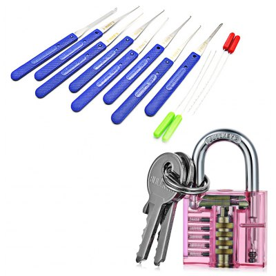 HakkaDeal Broken Key Removal Tools + Transparent Padlock