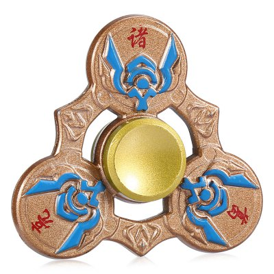 Retro Three Blade Zhuge Liang Finger SpinnerFidget Spinners<br>Retro Three Blade Zhuge Liang Finger Spinner<br><br>Color: Bronzed<br>Frame material: Zinc Alloy<br>Package Contents: 1 x Fidget Spinner<br>Package size (L x W x H): 12.00 x 10.00 x 1.50 cm / 4.72 x 3.94 x 0.59 inches<br>Package weight: 0.1080 kg<br>Product size (L x W x H): 6.40 x 6.40 x 1.40 cm / 2.52 x 2.52 x 0.55 inches<br>Product weight: 0.0700 kg<br>Type: Retro