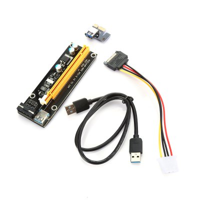 PCI - E 1X to 16X Extender Riser Card Adapter with USB 3.0 Cable