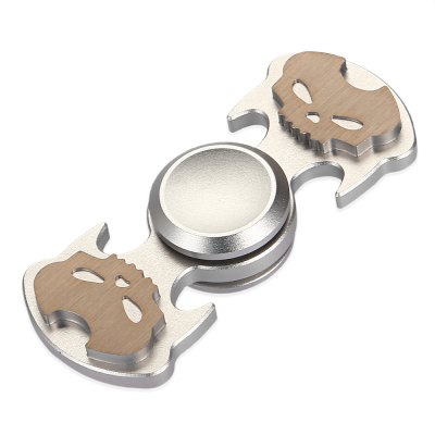Two-wing Skull Fidget SpinnerFidget Spinners<br>Two-wing Skull Fidget Spinner<br><br>Color: Silver<br>Frame material: Aluminum Alloy<br>Package Contents: 1 x Fidget Spinner, 1 x Box<br>Package size (L x W x H): 10.00 x 8.00 x 1.80 cm / 3.94 x 3.15 x 0.71 inches<br>Package weight: 0.0700 kg<br>Product size (L x W x H): 6.80 x 2.90 x 1.40 cm / 2.68 x 1.14 x 0.55 inches<br>Product weight: 0.0290 kg<br>Swing Numbers: 2<br>Type: Dual Blade