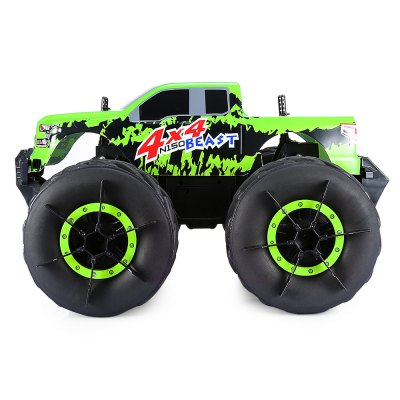 ZINGO RACING 9119 1:8 Amphibious RC Monster Truck - RTRRC Cars<br>ZINGO RACING 9119 1:8 Amphibious RC Monster Truck - RTR<br><br>Battery Information: 12V 500mAh NiCd<br>Car Power: Built-in rechargeable battery<br>Channel: 4-Channels<br>Charging Time: 4 hours<br>Drive Type: 4 WD<br>Material: ABS, POM, PVC, TPR, Electronic Components<br>Motor Type: Brushed Motor<br>Package Contents: 1 x RC Truck ( Battery Included ), 1 x Transmitter ( Battery Included ), 1 x Power Adapter, 1 x Screwdriver, 4 x Accessory, 1 x English Manual<br>Package size (L x W x H): 51.50 x 29.70 x 43.60 cm / 20.28 x 11.69 x 17.17 inches<br>Package weight: 4.3500 kg<br>Product size (L x W x H): 49.00 x 39.00 x 26.50 cm / 19.29 x 15.35 x 10.43 inches<br>Product weight: 2.1950 kg<br>Proportion: 1:8<br>Racing Time: 12~13mins<br>Remote Control: 2.4GHz Wireless Remote Control<br>Speed: 10km/h<br>Transmitter Power: 1 x 9V battery<br>Type: Off-Road Car
