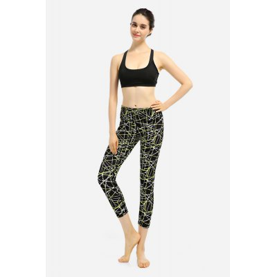High Waist Crop Leggings Elastic Quick Dry Running Yoga Sports Pants
