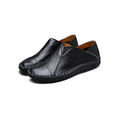 Handmade Slip-on Casual Men Leather ShoesCasual Shoes<br>Handmade Slip-on Casual Men Leather Shoes<br><br>Contents: 1 x Pair of Shoes<br>Materials: Leather<br>Occasion: Casual, Daily<br>Package Size ( L x W x H ): 34.00 x 23.00 x 12.00 cm / 13.39 x 9.06 x 4.72 inches<br>Package Weights: 0.98KG<br>Seasons: Autumn,Spring,Summer<br>Style: Leisure, Fashion, Comfortable<br>Type: Casual Shoes