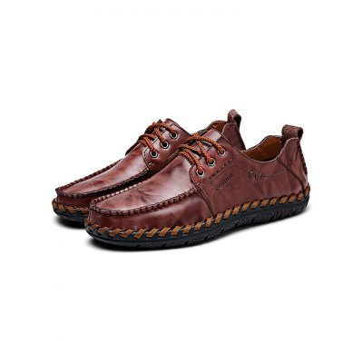 Handmade Men Lace-up Casual Leather ShoesCasual Shoes<br>Handmade Men Lace-up Casual Leather Shoes<br><br>Contents: 1 x Pair of Shoes<br>Materials: Leather<br>Occasion: Casual, Daily<br>Package Size ( L x W x H ): 34.00 x 23.00 x 12.00 cm / 13.39 x 9.06 x 4.72 inches<br>Package Weights: 0.88KG<br>Seasons: Autumn,Spring,Summer<br>Style: Leisure, Fashion, Comfortable<br>Type: Casual Shoes