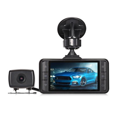 Chupad X16 1080P HD Front Rear Camera DVR with GPS