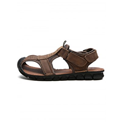 Outdoor Comfortable Hand-sewn Cowhide Men Casual SandalsMens Sandals<br>Outdoor Comfortable Hand-sewn Cowhide Men Casual Sandals<br><br>Contents: 1 x Pair of Sandals<br>Materials: Leather, Rubber<br>Occasion: Casual<br>Package Size ( L x W x H ): 33.00 x 22.00 x 11.00 cm / 12.99 x 8.66 x 4.33 inches<br>Package Weights: 0.870kg<br>Seasons: Autumn,Spring,Summer<br>Style: Leisure, Fashion, Comfortable<br>Type: Sandals