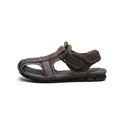 Outdoor Comfortable Hand-sewn Cowhide Men Casual SandalsMens Sandals<br>Outdoor Comfortable Hand-sewn Cowhide Men Casual Sandals<br><br>Contents: 1 x Pair of Sandals<br>Materials: Leather, Rubber<br>Occasion: Casual<br>Package Size ( L x W x H ): 33.00 x 22.00 x 11.00 cm / 12.99 x 8.66 x 4.33 inches<br>Package Weights: 0.870kg<br>Product Size  ( L x W x H ): 33.00 x 22.00 x 11.00 cm / 12.99 x 8.66 x 4.33 inches<br>Seasons: Autumn,Spring,Summer<br>Style: Leisure, Fashion, Comfortable<br>Type: Sandals
