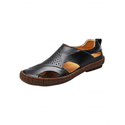 Summer Breathable Men Leather Casual SandalsMens Sandals<br>Summer Breathable Men Leather Casual Sandals<br><br>Contents: 1 x Pair of Shoes<br>Materials: Leather, Rubber<br>Occasion: Casual<br>Package Size ( L x W x H ): 33.00 x 22.00 x 11.00 cm / 12.99 x 8.66 x 4.33 inches<br>Package Weights: 0.920kg<br>Product Size  ( L x W x H ): 33.00 x 22.00 x 11.00 cm / 12.99 x 8.66 x 4.33 inches<br>Seasons: Autumn,Spring,Summer<br>Style: Leisure, Fashion, Comfortable<br>Type: Sandals