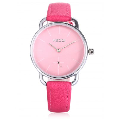 KEZZI K - 1675 Quartz WatchWomens Watches<br>KEZZI K - 1675 Quartz Watch<br><br>Band material: PU<br>Band size: 22.2cm x 1.9cm<br>Brand: Kezzi<br>Case material: Alloy<br>Clasp type: Pin buckle<br>Dial size: 3.5cm x 3.5cm x 0.8cm<br>Display type: Analog<br>Movement type: Quartz watch<br>Package Contents: 1 x Watch<br>Package size (L x W x H): 26.00 x 4.50 x 2.00 cm / 10.24 x 1.77 x 0.79 inches<br>Package weight: 0.0460 kg<br>Product size (L x W x H): 22.20 x 3.50 x 0.80 cm / 8.74 x 1.38 x 0.31 inches<br>Product weight: 0.0250 kg<br>Shape of the dial: Round<br>Watch color: Peach red<br>Watch style: Classic, Cool, Fashion, Business, Casual<br>Watches categories: Female table,Women<br>Water resistance : Life water resistant<br>Wearable length: 16.5cm - 21cm
