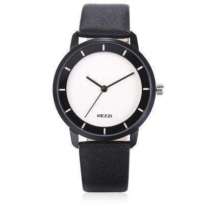 KEZZI K - 1715 Quartz WatchWomens Watches<br>KEZZI K - 1715 Quartz Watch<br><br>Band material: PU<br>Band size: 23.8cm x 1.8cm<br>Brand: Kezzi<br>Case material: Alloy<br>Clasp type: Pin buckle<br>Dial size: 3.6cm x 3.6cm x 0.8cm<br>Display type: Analog<br>Movement type: Quartz watch<br>Package Contents: 1 x Watch<br>Package size (L x W x H): 27.00 x 4.50 x 1.80 cm / 10.63 x 1.77 x 0.71 inches<br>Package weight: 0.0490 kg<br>Product size (L x W x H): 23.80 x 3.60 x 0.80 cm / 9.37 x 1.42 x 0.31 inches<br>Product weight: 0.0280 kg<br>Shape of the dial: Round<br>Watch color: White<br>Watch style: Fashion, Childlike, Lovely<br>Watches categories: Female table,Women<br>Water resistance : Life water resistant<br>Wearable length: 17cm - 22cm