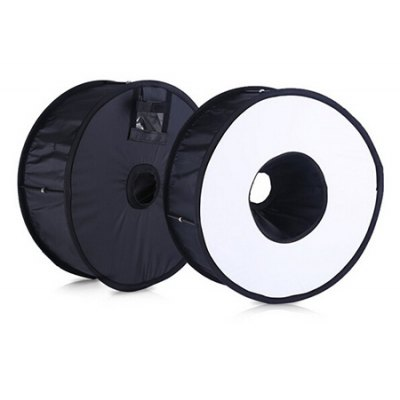 Portable 45CM Round Universal Ring Flash Diffuser