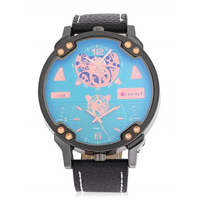 JUBAOLI 1148 Men Quartz WatchMens Watches<br>JUBAOLI 1148 Men Quartz Watch<br><br>Band material: Leather<br>Band size: 27 x 2.3cm<br>Brand: Jubaoli<br>Case material: Stainless Steel<br>Clasp type: Pin buckle<br>Dial size: 5 x 5 x 1.2cm<br>Display type: Analog<br>Movement type: Quartz watch<br>Package Contents: 1 x Watch, 1 x Box<br>Package size (L x W x H): 28.00 x 6.00 x 2.00 cm / 11.02 x 2.36 x 0.79 inches<br>Package weight: 0.1100 kg<br>Product size (L x W x H): 27.00 x 5.00 x 1.20 cm / 10.63 x 1.97 x 0.47 inches<br>Product weight: 0.0810 kg<br>Shape of the dial: Round<br>Special features: GMT<br>Watch style: Fashion<br>Watches categories: Men<br>Water resistance : Life water resistant<br>Wearable length: 20 - 24cm