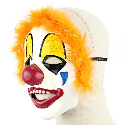 Red Nose Clown Latex Mask