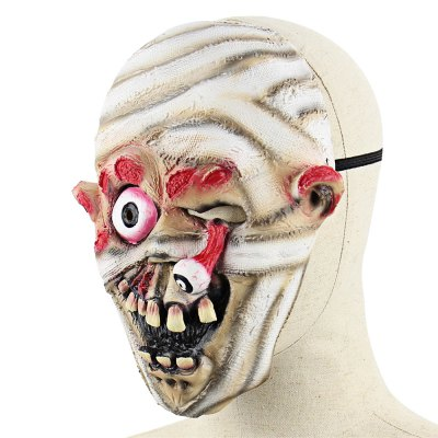 Horrible Mummy Latex Mask with Burst out EyeClassic Toys<br>Horrible Mummy Latex Mask with Burst out Eye<br><br>Appliable Crowd: Unisex<br>Materials: Latex<br>Nature: Other<br>Package Contents: 1 x Mask<br>Package size: 22.00 x 23.50 x 1.50 cm / 8.66 x 9.25 x 0.59 inches<br>Package weight: 0.0910 kg<br>Product weight: 0.0700 kg