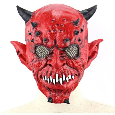Horrible Yaksha Latex Mask with Jagged Teeth