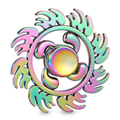 Rainbow Sunflower Style Zinc Alloy Fidget SpinnerFidget Spinners<br>Rainbow Sunflower Style Zinc Alloy Fidget Spinner<br><br>Color: Colorful<br>Frame material: Zinc Alloy<br>Package Contents: 1 x Fidget Spinner, 1 x Box<br>Package size (L x W x H): 9.00 x 9.00 x 2.00 cm / 3.54 x 3.54 x 0.79 inches<br>Package weight: 0.1110 kg<br>Product size (L x W x H): 6.50 x 6.50 x 1.40 cm / 2.56 x 2.56 x 0.55 inches<br>Product weight: 0.0650 kg<br>Type: Floral