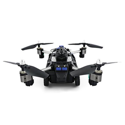 JJRC H40WH 2-in-1 RC Flying Tank Quadcopter - RTFRC Quadcopters<br>JJRC H40WH 2-in-1 RC Flying Tank Quadcopter - RTF<br><br>Battery: 7.4V 1200mAh LiPo<br>Brand: JJRC<br>Built-in Gyro: 6 Axis Gyro<br>Channel: 4-Channels<br>Charging Time.: 120mins<br>Compatible with Additional Gimbal: No<br>Control Distance: 50-100m<br>Detailed Control Distance: 100m<br>Features: Radio Control, WiFi APP Control, Camera, Brushed Version, WiFi FPV<br>Flying Time: 8~9mins<br>FPV Distance: 5 - 20m<br>Functions: Turn left/right, WiFi Connection, Up/down, Forward/backward, 360 degrees spin, Air Press Altitude Hold, Headless Mode, One Key Automatic Return, Sideward flight<br>Level: Beginner Level<br>Model: H40WH<br>Model Power: Built-in rechargeable battery<br>Motor Type: Brushed Motor<br>Package Contents: 1 x Quadcopter ( Battery Included ), 1 x Transmitter, 1 x Mobile Phone Holder, 2 x Spare Propeller, 1 x USB Cable, 1 x English Manual<br>Package size (L x W x H): 28.20 x 16.60 x 20.20 cm / 11.1 x 6.54 x 7.95 inches<br>Package weight: 1.2200 kg<br>Product size (L x W x H): 21.00 x 10.00 x 11.00 cm / 8.27 x 3.94 x 4.33 inches<br>Product weight: 0.3772 kg<br>Radio Mode: Mode 2 (Left-hand Throttle),WiFi APP<br>Remote Control: 2.4GHz Wireless Remote Control<br>Sensor: Barometer<br>Size: Large<br>Transmitter Power: 3 x 1.5V AA battery(not included)<br>Type: Quadcopter, Outdoor<br>Video Resolution: 720P HD