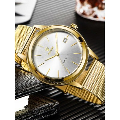 TEVISE 9006G Men Mechanical WatchMens Watches<br>TEVISE 9006G Men Mechanical Watch<br><br>Band material: Stainless Steel<br>Band size: 24 x 2cm<br>Brand: Tevise<br>Case material: Alloy<br>Clasp type: Hook buckle<br>Dial size: 4 x 4 x 1.3cm<br>Display type: Analog<br>Movement type: Mechanical watch<br>Package Contents: 1 x Watch, 1 x Box<br>Package size (L x W x H): 10.00 x 10.00 x 6.00 cm / 3.94 x 3.94 x 2.36 inches<br>Package weight: 0.3500 kg<br>Product size (L x W x H): 24.00 x 4.00 x 1.30 cm / 9.45 x 1.57 x 0.51 inches<br>Product weight: 0.1250 kg<br>Shape of the dial: Round<br>Special features: Date<br>Watch style: Fashion<br>Watches categories: Men<br>Water resistance : Life water resistant