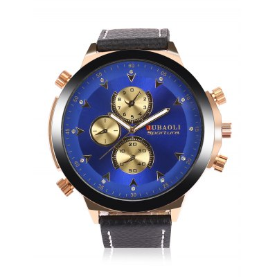 JUBAOLI A688 Men Quartz WatchMens Watches<br>JUBAOLI A688 Men Quartz Watch<br><br>Band material: Leather<br>Band size: 27 x 2cm<br>Brand: Jubaoli<br>Case material: Stainless Steel<br>Clasp type: Pin buckle<br>Dial size: 5 x 5 x 1cm<br>Display type: Analog<br>Movement type: Quartz watch<br>Package Contents: 1 x Watch, 1 x Box<br>Package size (L x W x H): 28.00 x 6.00 x 2.00 cm / 11.02 x 2.36 x 0.79 inches<br>Package weight: 0.1000 kg<br>Product size (L x W x H): 27.00 x 5.00 x 1.00 cm / 10.63 x 1.97 x 0.39 inches<br>Product weight: 0.0770 kg<br>Shape of the dial: Round<br>Special features: Luminous<br>Watch style: Fashion<br>Watches categories: Men<br>Water resistance : Life water resistant<br>Wearable length: 20 - 24cm