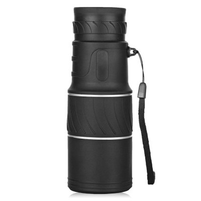 16 X 52mm Monocular Curved Pattern Anti-slip TelescopeBinoculars and Telescopes<br>16 X 52mm Monocular Curved Pattern Anti-slip Telescope<br><br>Amplification Factor: 16X<br>Body Coated with Rubber: Yes<br>Color: Black<br>Exit pupil diameter: 5<br>Exit pupil distance: 12mm<br>Eyepiece Diameter: 16mm<br>Features: Waterproof, Anti-slip<br>Field Angle(degree): 22 degree<br>Field of view: 66 / 8000m<br>For: Beach, Bird watching, Boating/Yachting, Hunting, Travel, Theater<br>Material: Rubber, Aluminium Alloy<br>Objective Lens (mm) : 52mm<br>Optical Material: BAK-4<br>Package Contents: 1 x Monocular, 1x Cleaning Cloth, 1 x Lanyard, 1 x Storage Bag<br>Package size (L x W x H): 17.20 x 6.60 x 6.60 cm / 6.77 x 2.6 x 2.6 inches<br>Package weight: 0.4000 kg<br>Prism System: Roof System<br>Product size (L x W x H): 14.60 x 5.20 x 5.20 cm / 5.75 x 2.05 x 2.05 inches<br>Product weight: 0.2800 kg<br>Type: Monocular Telescope
