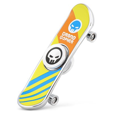 Skull Skateboard Zinc Alloy Fidget SpinnerFidget Spinners<br>Skull Skateboard Zinc Alloy Fidget Spinner<br><br>Color: Multi-color<br>Package Contents: 1 x Fidget Spinner<br>Package size (L x W x H): 9.00 x 14.50 x 1.90 cm / 3.54 x 5.71 x 0.75 inches<br>Package weight: 0.0820 kg<br>Product size (L x W x H): 8.40 x 2.40 x 1.30 cm / 3.31 x 0.94 x 0.51 inches<br>Product weight: 0.0550 kg<br>Swing Numbers: Dual Bar<br>Type: Cool, Dual Blade