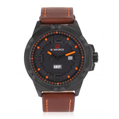 NAVIFORCE NF9100 Calendar Watch Japan Movt WristwatchMens Watches<br>NAVIFORCE NF9100 Calendar Watch Japan Movt Wristwatch<br><br>Band material: PU<br>Band size: 26.8 x 2.4cm<br>Case material: Stainless Steel<br>Clasp type: Pin buckle<br>Dial size: 4.95 x 4.95 x 1.4cm<br>Display type: Analog<br>Movement type: Digital watch<br>Package Contents: 1 x Watch<br>Package size (L x W x H): 28.00 x 6.20 x 2.50 cm / 11.02 x 2.44 x 0.98 inches<br>Package weight: 0.1420 kg<br>Product size (L x W x H): 26.80 x 4.95 x 1.40 cm / 10.55 x 1.95 x 0.55 inches<br>Product weight: 0.1000 kg<br>Shape of the dial: Round<br>Watch style: Casual, Cool, Fashion<br>Watches categories: Male table<br>Wearable length: 20 - 24cm