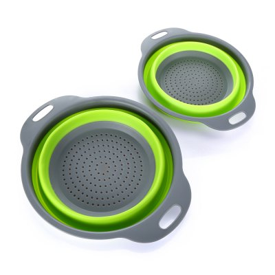 2PCS Collapsible Sink Colander Foldable StrainerOther Kitchen Accessories<br>2PCS Collapsible Sink Colander Foldable Strainer<br><br>Material: Silicone<br>Package Contents: 2 x Colander<br>Package size (L x W x H): 40.00 x 31.00 x 8.00 cm / 15.75 x 12.2 x 3.15 inches<br>Package weight: 0.2660 kg<br>Product weight: 0.0970 kg<br>Type: Other Kitchen Accessories