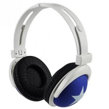 Big Star Pattern Sports Style Headphone