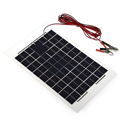 10W 12V Monocrystalline Silicon Solar PanelOther Camping Gadgets<br>10W 12V Monocrystalline Silicon Solar Panel<br><br>Accessory type: Source<br>Color: Black<br>Material: Silicone<br>Package Contents: 1 x Panel<br>Package size (L x W x H): 43.50 x 29.00 x 3.00 cm / 17.13 x 11.42 x 1.18 inches<br>Package weight: 0.5600 kg<br>Product size (L x W x H): 37.50 x 22.00 x 1.10 cm / 14.76 x 8.66 x 0.43 inches<br>Product weight: 0.3900 kg