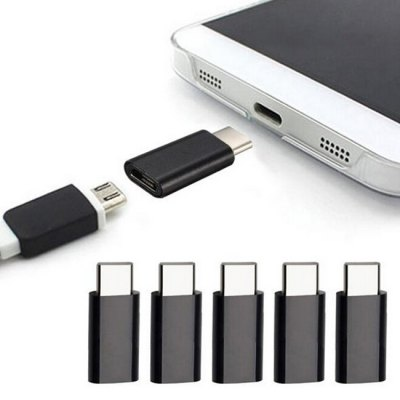 5pcs Micro USB to Type-C Adapter