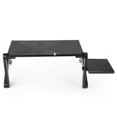 Adjustable Folding Laptop Table with Tray Desk