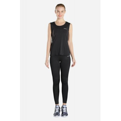 Fitness Tank with Lower Back Cutout Breathable Women Yoga Top