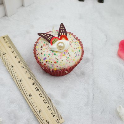 Realistic Decorative Rabbit Ear Cupcake Squishy Toy