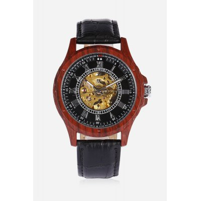 SEWOR 201705 Men Auto Mechanical WatchMens Watches<br>SEWOR 201705 Men Auto Mechanical Watch<br><br>Band material: PU Leather<br>Band size: 26 x 2cm<br>Brand: Sewor<br>Case material: Wood<br>Clasp type: Pin buckle<br>Dial size: 4.3 x 4.3 x 1.1cm<br>Display type: Analog<br>Movement type: Automatic mechanical watch<br>Package Contents: 1 x Watch<br>Package size (L x W x H): 27.00 x 5.00 x 2.00 cm / 10.63 x 1.97 x 0.79 inches<br>Package weight: 0.0900 kg<br>Product size (L x W x H): 26.00 x 4.30 x 1.10 cm / 10.24 x 1.69 x 0.43 inches<br>Product weight: 0.0730 kg<br>Shape of the dial: Round<br>Watch style: Hollow-out<br>Watches categories: Men<br>Wearable length: 20 - 23.5cm