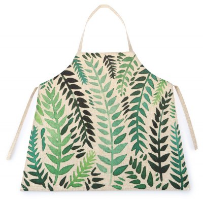 Leaf Pattern Kitchen Cotton Line Kid Apron