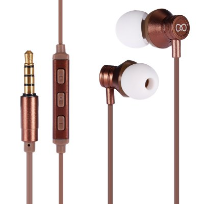 3.5mm In-ear Wired Earphone with MicEarbud Headphones<br>3.5mm In-ear Wired Earphone with Mic<br><br>Application: Running, Working, Sport, Gaming<br>Compatible with: iPod, iPhone, Computer, PC, Mobile phone<br>Connecting interface: 3.5mm<br>Connectivity: Wired<br>Driver unit: 10mm<br>Frequency response: 20-20000Hz<br>Function: Voice control, Answering Phone, Microphone, Song Switching<br>Impedance: 16ohms<br>Language: No<br>Material: Metal, Plastic<br>Package Contents: 1 x Earphone, 4 x Ear Cap<br>Package size (L x W x H): 19.30 x 8.00 x 2.40 cm / 7.6 x 3.15 x 0.94 inches<br>Package weight: 0.0810 kg<br>Plug Type: 3.5mm<br>Product size (L x W x H): 120.00 x 0.20 x 0.20 cm / 47.24 x 0.08 x 0.08 inches<br>Product weight: 0.0140 kg<br>Sensitivity: 89dB<br>Type: In-Ear<br>Wearing type: In-Ear