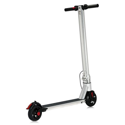 Aluminum Alloy 6 inch wheel 4400mAh Folding Electric ScooterSkateboard<br>Aluminum Alloy 6 inch wheel 4400mAh Folding Electric Scooter<br><br>Battery: Li-ion battery<br>Battery Capacity: 4400mAh<br>Battery Rate: 58W<br>Charger type: EU plug<br>Charging Time: 120 Minutes<br>Folding Type: Folding<br>Material: Aluminum Alloy<br>Max Payload: 90kg<br>Maximum Mileage: 10km<br>Maximum Speed: 20km/h<br>Mileage (depends on road and driver weight): 8-15km<br>Motor Rated Power: 250W<br>Package Content: 1 x Electric Scooter, 1 x Charger, 1 x Wrench, 1 x English User Manual<br>Package size: 104.00 x 19.00 x 29.00 cm / 40.94 x 7.48 x 11.42 inches<br>Package weight: 11.1000 kg<br>Permissible Gradient (depends on your weight): 16-20 degree<br>Product size: 92.00 x 48.00 x 106.00 cm / 36.22 x 18.9 x 41.73 inches<br>Product weight: 8.5000 kg<br>Seat Type: without Seat<br>Type: Electric Kick Scooter<br>Wheel Number: 2 Wheel<br>Working Temperature: 0 - 45 Deg.C