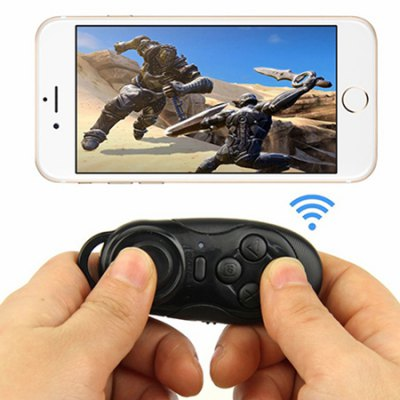 Bluetooth Joystick Selfie ShutterGame Controllers<br>Bluetooth Joystick Selfie Shutter<br><br>Battery Capacity (mAh): 100mAh<br>Battery Type: Built-in<br>Bluetooth Version: V3.0<br>Charging Time: 1h<br>Compatible with: Android, Android TV Box, IOS<br>Functions: Bluetooth<br>Interface: Micro USB<br>Material: ABS<br>Package Contents: 1 x Controller<br>Package size: 8.50 x 4.10 x 2.30 cm / 3.35 x 1.61 x 0.91 inches<br>Package weight: 0.0600 kg<br>Product size: 7.30 x 3.10 x 1.30 cm / 2.87 x 1.22 x 0.51 inches<br>Product weight: 0.0350 kg<br>System support: PC, IOS, Android<br>Working Time: 4h