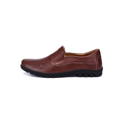 Fashion Cowhide Slip-on Men Casual ShoesCasual Shoes<br>Fashion Cowhide Slip-on Men Casual Shoes<br><br>Contents: 1 x Pair of Shoes<br>Materials: Leather<br>Occasion: Casual<br>Package Size ( L x W x H ): 35.00 x 24.00 x 13.00 cm / 13.78 x 9.45 x 5.12 inches<br>Package Weights: 0.970kg<br>Seasons: Autumn,Spring,Summer<br>Style: Leisure, Fashion, Comfortable<br>Type: Casual Shoes