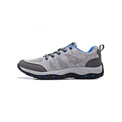 Breathable Lace-up Men Outdoor Hiking ShoesAthletic Shoes<br>Breathable Lace-up Men Outdoor Hiking Shoes<br><br>Contents: 1 x Pair of Shoes<br>Materials: Fabric, Rubber<br>Occasion: Casual<br>Package Size ( L x W x H ): 33.00 x 22.00 x 11.00 cm / 12.99 x 8.66 x 4.33 inches<br>Package Weights: 0.870kg<br>Seasons: Autumn,Spring,Summer<br>Style: Leisure, Fashion, Comfortable<br>Type: Hiking Shoes