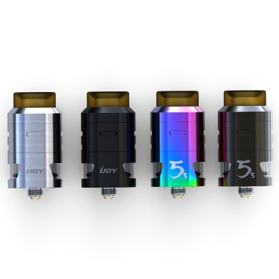 IJOY RDTA 5S AtomizerRebuildable Atomizers<br>IJOY RDTA 5S Atomizer<br><br>Brand: IJOY<br>Material: Stainless Steel, Glass<br>Model: 5S<br>Package Contents: 1 x RDTA 5S, 1 x Screwdriver, 1 x Extra Glass, 1 x Tool Pack ( O-ring, Screw, Coil, Japanese Organic Cotton )<br>Package size (L x W x H): 8.00 x 5.60 x 4.80 cm / 3.15 x 2.2 x 1.89 inches<br>Package weight: 0.1270 kg<br>Product size (L x W x H): 2.40 x 2.40 x 4.70 cm / 0.94 x 0.94 x 1.85 inches<br>Product weight: 0.0620 kg<br>Rebuildable Atomizer: RBA,RDA,RTA<br>Thread: 510<br>Type: Rebuildable Atomizer, Rebuildable Tanks, Rebuildable Drippers