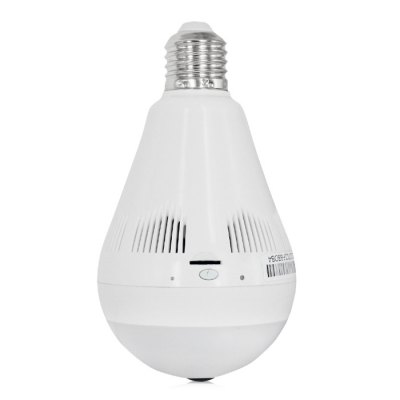 EC18B - I6 Bulb Shape Panorama WiFi IP CameraIP Cameras<br>EC18B - I6 Bulb Shape Panorama WiFi IP Camera<br><br>APP: 360Eye S<br>Audio Input: Built-in mic.<br>Audio Output: Built-in speaker<br>Backlight Compensation: Auto<br>Compatible Operation Systems: Android,IOS<br>Connection: Wireless<br>Environment: Indoor<br>FOV: 360 Degree<br>Frame Rate (FPS): 25fps<br>IP camera performance: Screenshot, Real-time video capture and recording, Motion Detection, Interphone<br>IP Mode : Dynamic IP address<br>Language: English,French,Germany,Italian,Japanese,Korean,Portuguese,Russian,Simplified Chinese,Spanish,Traditional Chinese<br>Local-storage: TF / Micro SD card up to 128GB<br>Maximum Monitoring Range: 360 degree<br>Mobile Access: Android,IOS<br>Model: EC18B - I6<br>Motion Detection Distance: within 6m<br>Operate Temperature (?): 0 - 60 Deg.C<br>Package Contents: 1 x Bulb Shape Panorama WiFi IP Camera ( E26 Threaded Base ), 1 x E27 Threaded Base, 1 x English / Chinese User Manual<br>Package size (L x W x H): 13.40 x 16.80 x 8.80 cm / 5.28 x 6.61 x 3.46 inches<br>Package weight: 0.4690 kg<br>Pixels: 1.3MP<br>Product size (L x W x H): 8.00 x 8.00 x 14.00 cm / 3.15 x 3.15 x 5.51 inches<br>Product weight: 0.1360 kg<br>Protocol: DHCP,HTTP,IP,NTP,P2P,SMTP,UPNP<br>Resolution: 1280 x 960<br>Sensor: CMOS<br>Sensor size (inch): 1/3<br>Shape: Bulb Camera<br>Technical Feature: WiFi, Other<br>Video Compression Format: H.264<br>Video format: MPEG-4<br>Video Resolution: 960P<br>Waterproof: No<br>White Balance: Auto<br>WiFi Distance : 0 - 20m<br>Wireless: IEEE 802.11 b/g/n<br>Working Voltage: AC 100 - 240V