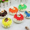 Buy Realistic Round Cream Cake PU Squishy Toy Model RED