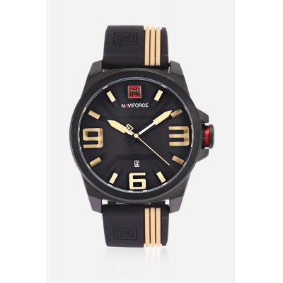 Fashion Date Display Japan Movt Watch for Men
