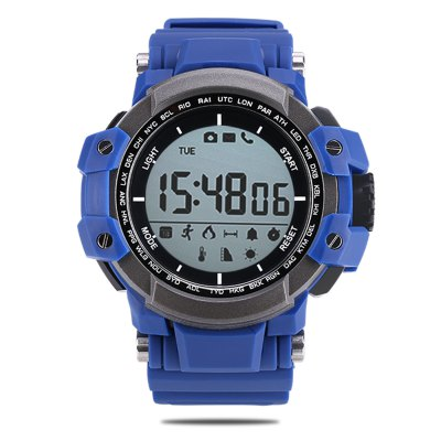 Zeblaze MUSCLE Sports Bluetooth SmartwatchSmart Watches<br>Zeblaze MUSCLE Sports Bluetooth Smartwatch<br><br>Alert type: Ring<br>Band material: TPU<br>Band size: 23.5 x 2.2 cm<br>Battery  Capacity: 550mAh<br>Bluetooth calling: Phone call reminder<br>Bluetooth Version: Bluetooth 4.0<br>Brand: Zeblaze<br>Built-in chip type: Dialog DA14580<br>Case material: Nano silicone<br>Compatability: Android 4.4 or above and iOS 7.0 or above<br>Compatible OS: Android, IOS<br>Dial size: 6.2 x 5.1 x 1.74 cm<br>Health tracker: Pedometer,Sleep monitor<br>IP rating: IP67<br>Language: Arabic,English,French,Italian,Japanese,Portuguese,Russian,Simplified Chinese,Spanish<br>Messaging: Message reminder<br>Notification: Yes<br>Notification type: Wechat, WhatsApp, Twitter, Skype, Facebook<br>Operating mode: Press button<br>Other Function: Altimeter, Thermometer<br>Package Contents: 1 x Smartwatch, 1 x English Manual<br>Package size (L x W x H): 12.00 x 8.00 x 7.00 cm / 4.72 x 3.15 x 2.76 inches<br>Package weight: 0.1930 kg<br>People: Female table,Male table<br>Product size (L x W x H): 23.50 x 5.10 x 1.74 cm / 9.25 x 2.01 x 0.69 inches<br>Product weight: 0.0740 kg<br>Remote control function: Remote Camera<br>Screen: FSTN<br>Screen size: 1.2 inch<br>Shape of the dial: Rectangle<br>Standby time: 365 days<br>Type of battery: Button cell<br>Waterproof: Yes