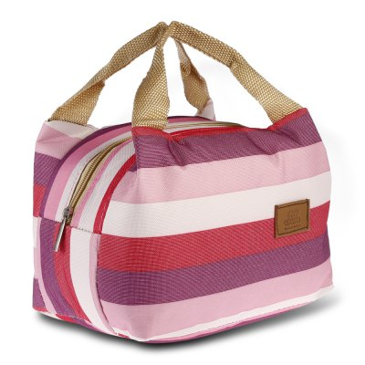 Woman Lady Waterproof Lunch Tote Bag Travel Heat Cold Insulated Handbag with Zipper