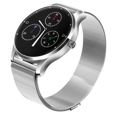 K88 Heart Rate SmartwatchSmart Watches<br>K88 Heart Rate Smartwatch<br><br>Alert type: Ring, Vibration, Vibration, Ring<br>Anti-lost: Yes, Yes<br>Band material: Stainless Steel, Stainless Steel<br>Band size: 23 x 2.2 cm, 23 x 2.2 cm<br>Battery  Capacity: 300mAh, 300mAh<br>Bluetooth calling: Phone call reminder, Phone call reminder<br>Bluetooth Version: Bluetooth 4.0, Bluetooth 4.0<br>Built-in chip type: MTK2502, MTK2502<br>Case material: Metal, Metal<br>Charging Time: About 2hours, About 2hours<br>Compatability: Android 4.0 or above and iOS 7.0 or above , Android 4.0 or above and iOS 7.0 or above<br>Compatible OS: IOS, Android, Android, IOS<br>Dial size: 4.3 x 4.3 x 1.3 cm , 4.3 x 4.3 x 1.3 cm<br>Find phone: Yes, Yes<br>Groups of alarm: 3, 3<br>Health tracker: Heart rate monitor,Pedometer,Sedentary reminder,Sleep monitor, Heart rate monitor,Pedometer,Sedentary reminder,Sleep monitor<br>IP rating: IP65, IP65<br>Language: Arabic,Dutch,English,French,German,Hebrew,Indonesian,Japanese,Korean,Malay,Persian,Polish,Portuguese,Romanian,Russian,Simplified Chinese,Spanish,Thai,Traditional Chinese,Turkish,Vietnamese, Arabic,Dutch,English,French,German,Hebrew,Indonesian,Japanese,Korean,Malay,Persian,Polish,Portuguese,Romanian,Russian,Simplified Chinese,Spanish,Thai,Traditional Chinese,Turkish,Vietnamese<br>Messaging: Message reminder, Message reminder<br>Notification: Yes, Yes<br>Notification type: Facebook, Skype, Facebook, WhatsApp, Twitter, Twitter, Wechat, WhatsApp, Wechat, Skype<br>Operating mode: Touch Key, Press button, Touch Key, Press button<br>Package Contents: 1 x Smartwatch, 1 x English Manual, 1 x Charging Cable , 1 x Smartwatch, 1 x English Manual, 1 x Charging Cable<br>Package size (L x W x H): 11.20 x 11.20 x 8.10 cm / 4.41 x 4.41 x 3.19 inches, 11.20 x 11.20 x 8.10 cm / 4.41 x 4.41 x 3.19 inches<br>Package weight: 0.3300 kg, 0.3300 kg<br>People: Female table,Male table, Female table,Male table<br>Product size (L x W x H): 23.00 x 4.30 x 1.30 cm / 9.06 x 1.69 x 