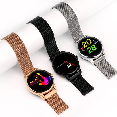 K88 Heart Rate SmartwatchSmart Watches<br>K88 Heart Rate Smartwatch<br><br>Alert type: Ring, Vibration<br>Anti-lost: Yes<br>Band material: Stainless Steel<br>Band size: 23 x 2.2 cm<br>Battery  Capacity: 300mAh<br>Bluetooth calling: Phone call reminder<br>Bluetooth Version: Bluetooth 4.0<br>Built-in chip type: MTK2502<br>Case material: Metal<br>Charging Time: About 2hours<br>Compatability: Android 4.0 or above and iOS 7.0 or above<br>Compatible OS: Android, IOS<br>Dial size: 4.3 x 4.3 x 1.3 cm<br>Find phone: Yes<br>Groups of alarm: 3<br>Health tracker: Heart rate monitor,Pedometer,Sedentary reminder,Sleep monitor<br>IP rating: IP65<br>Language: Arabic,Dutch,English,French,German,Hebrew,Indonesian,Japanese,Korean,Malay,Persian,Polish,Portuguese,Romanian,Russian,Simplified Chinese,Spanish,Thai,Traditional Chinese,Turkish,Vietnamese<br>Messaging: Message reminder<br>Notification: Yes<br>Notification type: Facebook, Skype, Twitter, Wechat, WhatsApp<br>Operating mode: Touch Key, Press button<br>Package Contents: 1 x Smartwatch, 1 x English Manual, 1 x Charging Cable<br>Package size (L x W x H): 11.20 x 11.20 x 8.10 cm / 4.41 x 4.41 x 3.19 inches<br>Package weight: 0.3300 kg<br>People: Female table,Male table<br>Product size (L x W x H): 23.00 x 4.30 x 1.30 cm / 9.06 x 1.69 x 0.51 inches<br>Product weight: 0.0760 kg<br>RAM: 64MB<br>Remote control function: Remote Camera<br>ROM: 128MB<br>Screen resolution: 240 x 240<br>Screen size: 1.22 inch<br>Shape of the dial: Round<br>Standby time: 2 - 5 days<br>Type of battery: Lithium-polymer battery<br>Waterproof: Yes