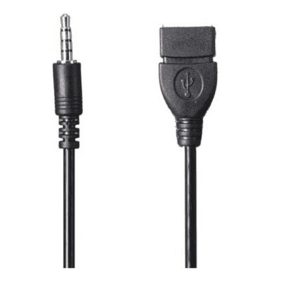 1.8m Length 3.5mm Male to USB Female Cable